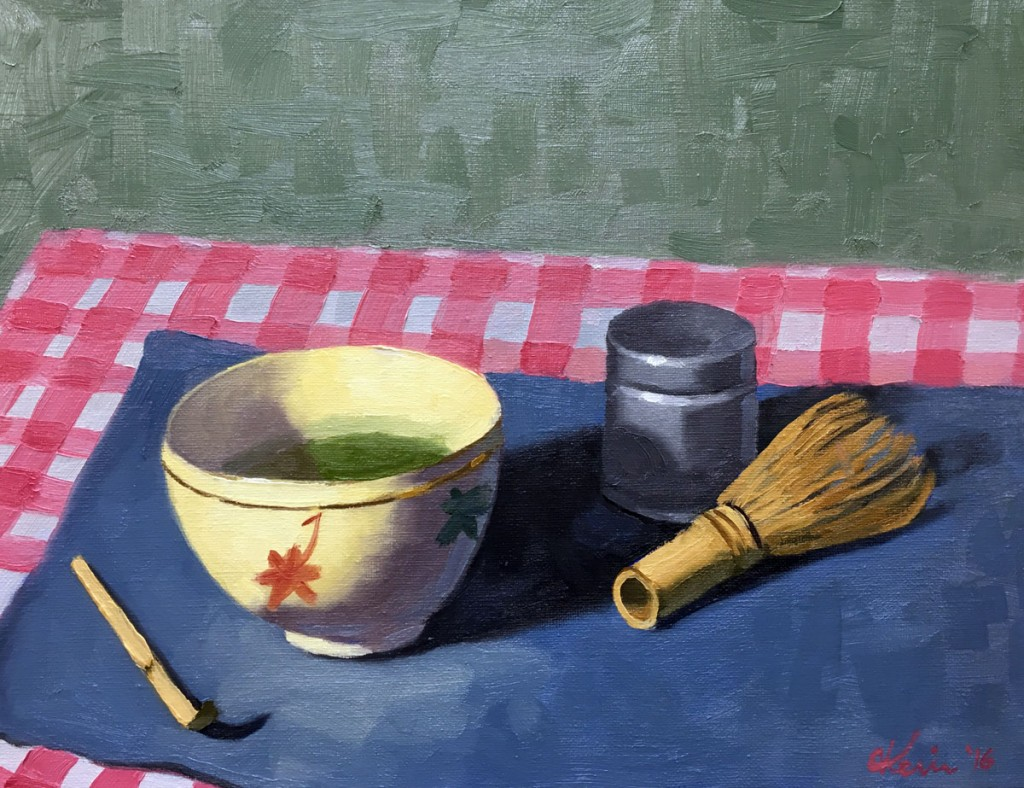 """A Bowl of Matcha"" - oil on canvas"