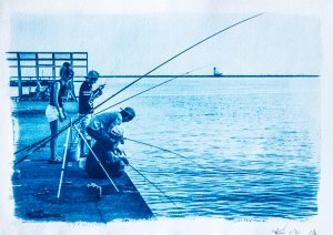 Fishing Cyanotype