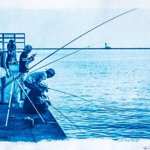 Fishing Cyanotype