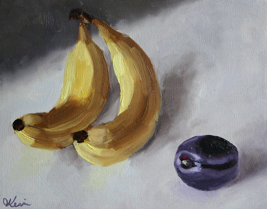 Bananas and a Plum