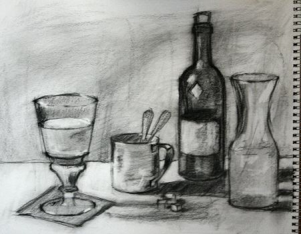 Study for Jade Absinthe Still Life